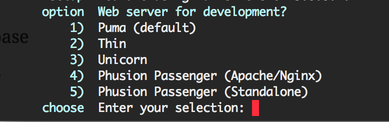 Pick your development server.