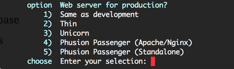 Pick your production server.