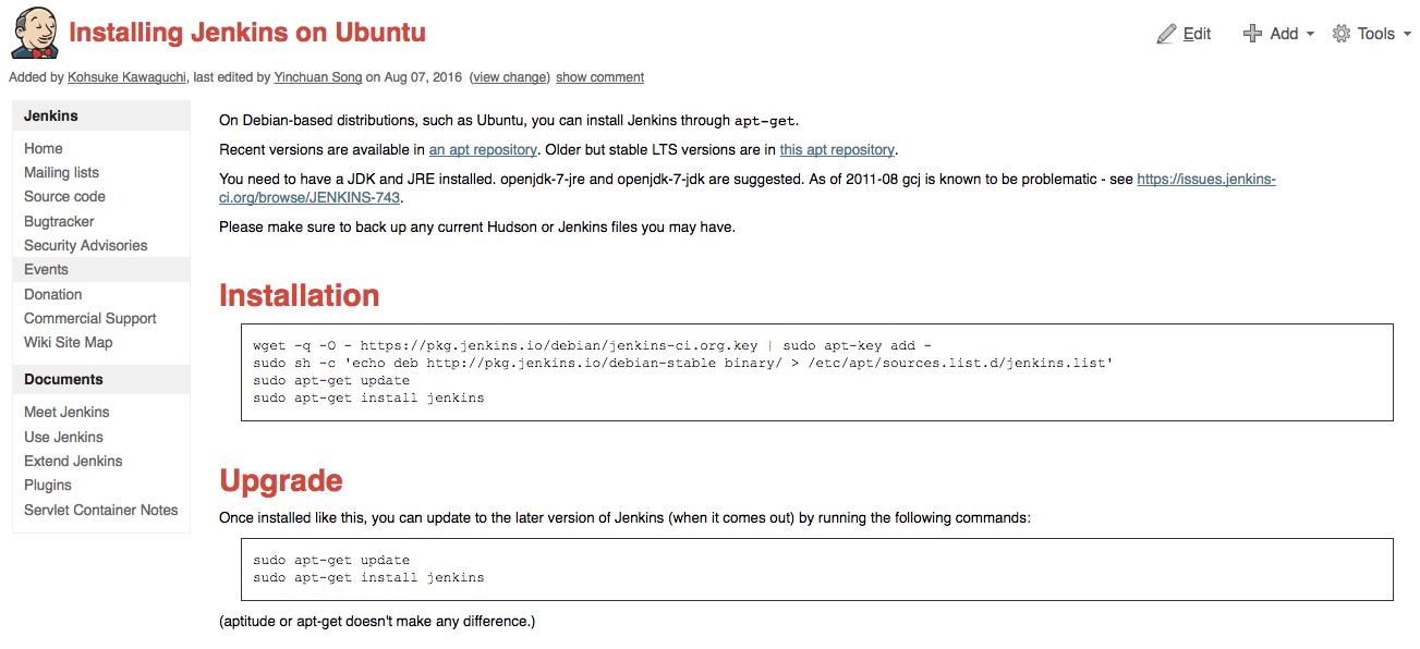 Installing Jenkins on Ubuntu