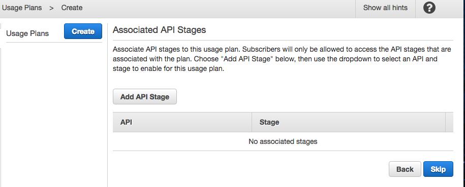 Link API key to usage plan