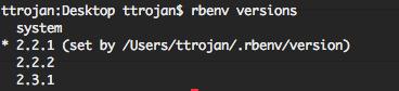 rbenv-versions