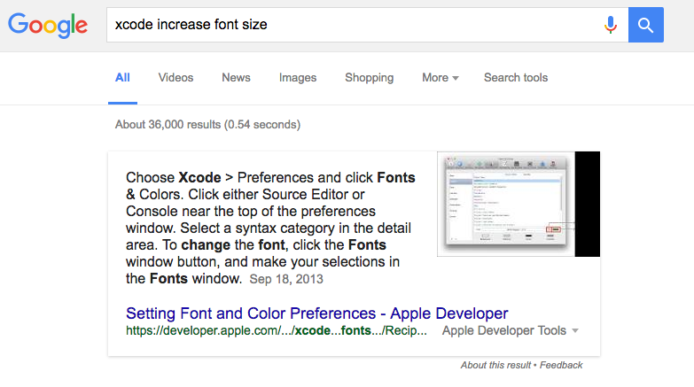 Google Increase Font Size