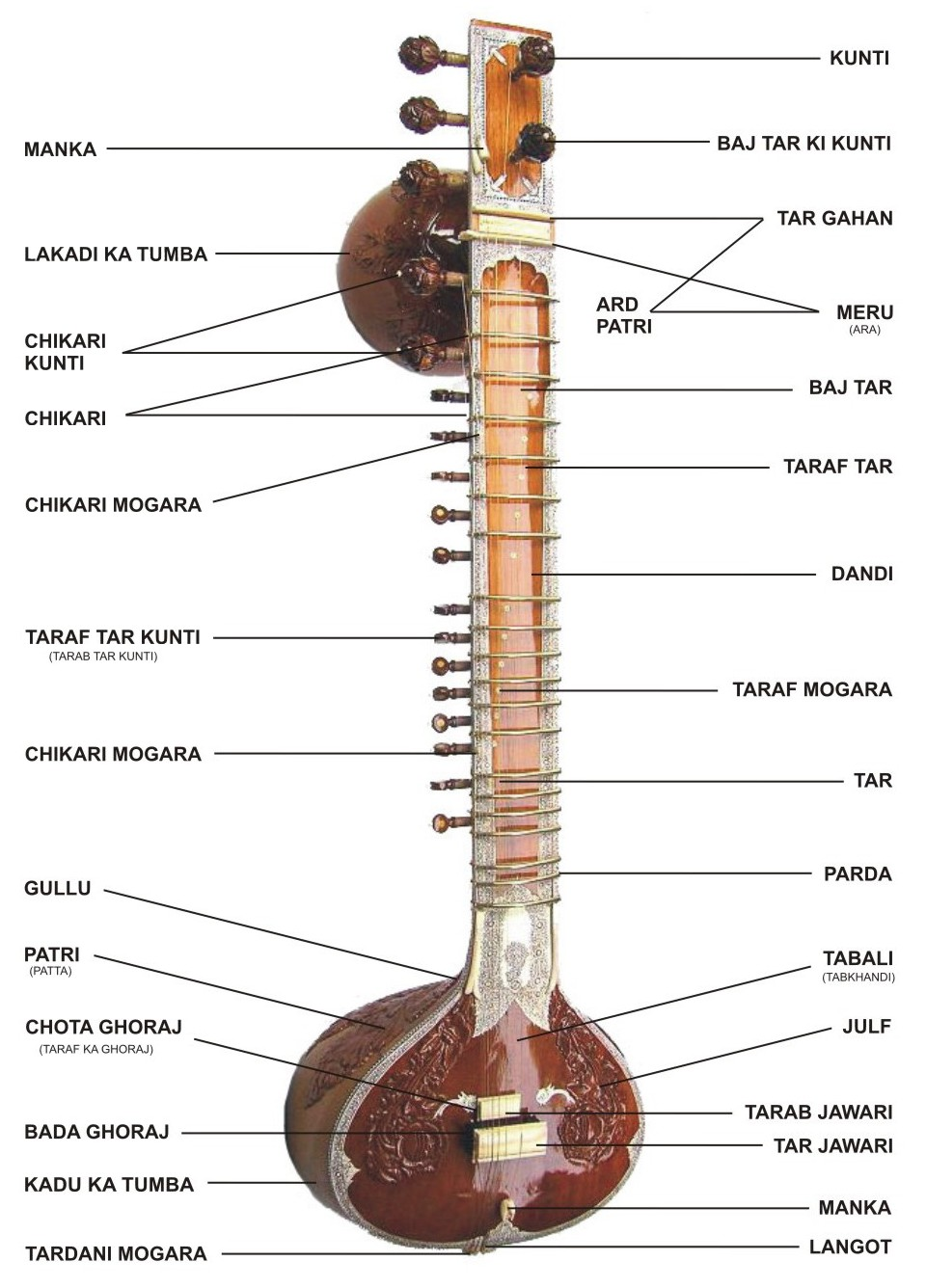 Anatomy of a Sitar