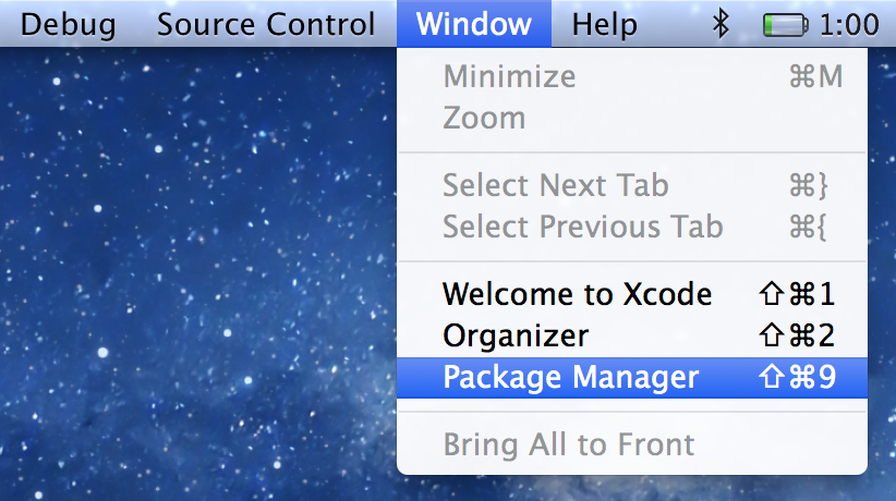 Where to find Alcatraz within xCode