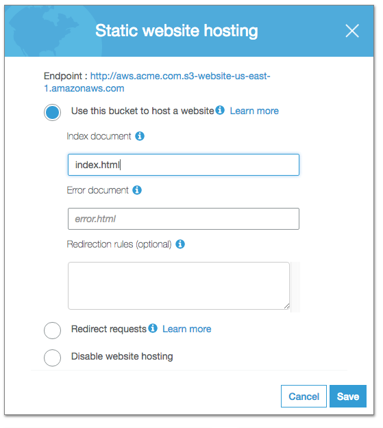 create-static-hosting