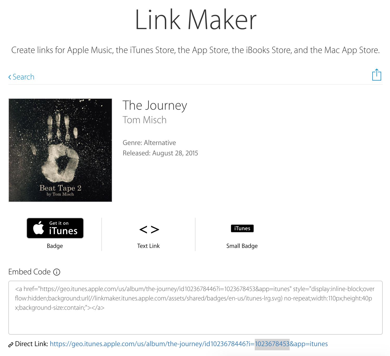 itunes-link-maker-track