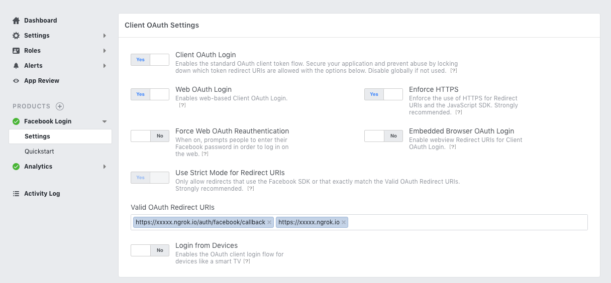 Using ngrok to test your Facebook oAuth callbacks
