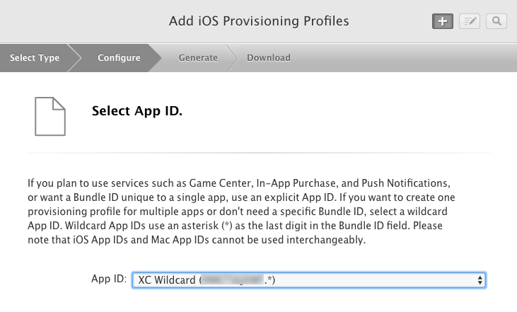 select-an-app-id